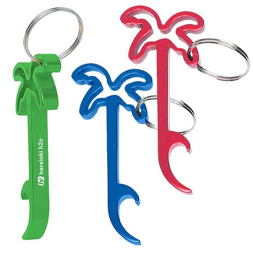 palm tree bottle opener key ring