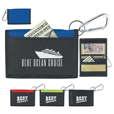 Velcro® Wallet With Carabiner