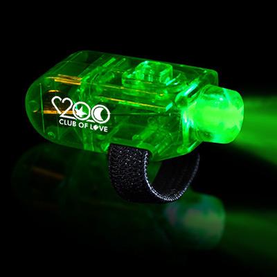 logo'd LED finger lights