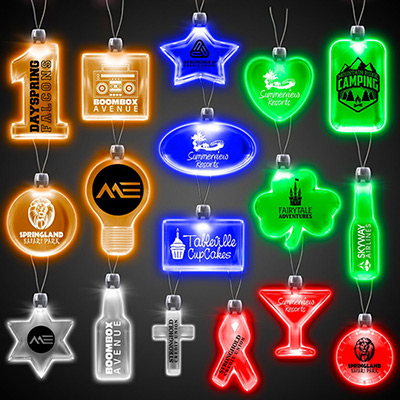 lighted pendant necklace - Lighted Christmas Necklace