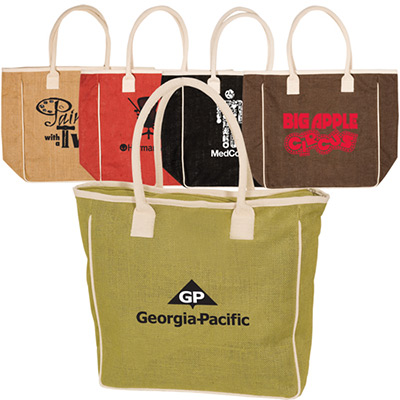 Seville Jute And Canvas Tote