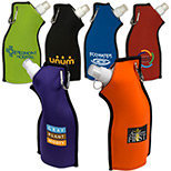 logoed neoprene flexi bottle