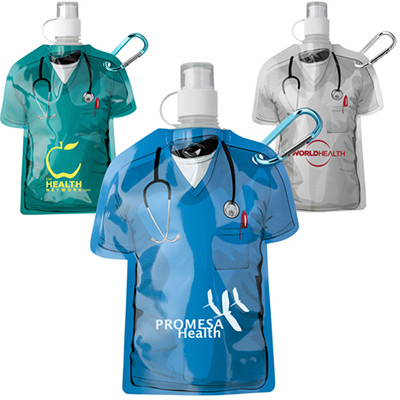 16 oz. medical scrubs water bottle