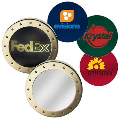 atrium brass magnifier paperweight