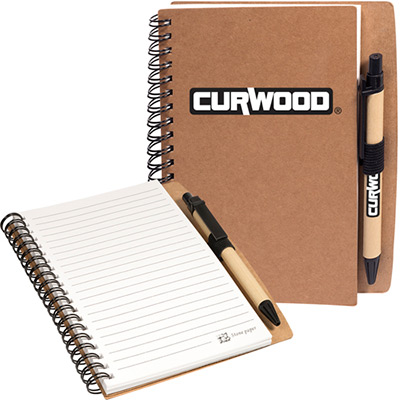 stone paper spiral notebook with pen combo