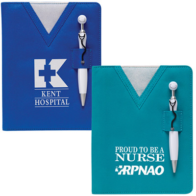 Swanky™ Scrubs Notebook with Stethoscope Pen