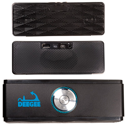 Wireless Mini-Boom Speaker & FM Radio