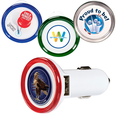 round usb car charger deluxe