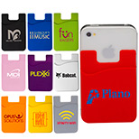promotional econo silicone mobile device pocket