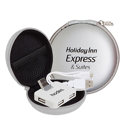 promotional round zipper case