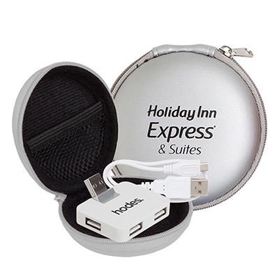 promotional round zipper case