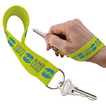 promotional wrist strap key holders