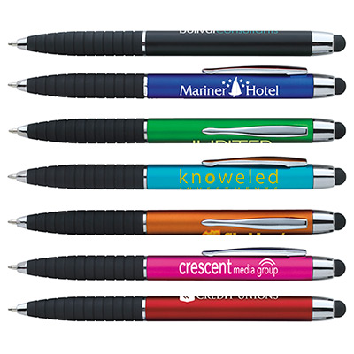metallic cool grip stylus pen