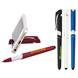logo'd stylus pen with phone holder