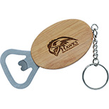 personalized bamboo bottle opener keychain