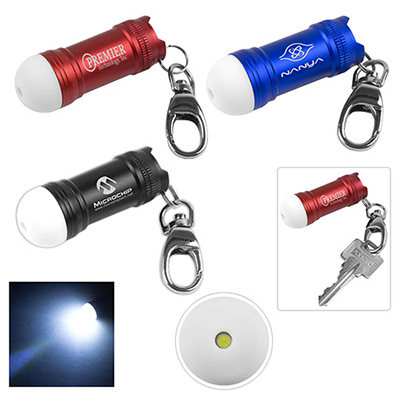 Mini Bubble LED Aluminum Keychain Keylight