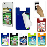 custom phone wallet with Microfiber cleaning cloth