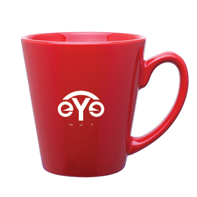 12 oz. Red Mini Latte Ceramic Mug