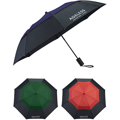 42 color pop vented windproof umbrella