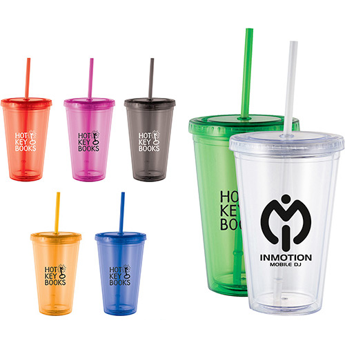 16 oz. cyclone tumbler with straw