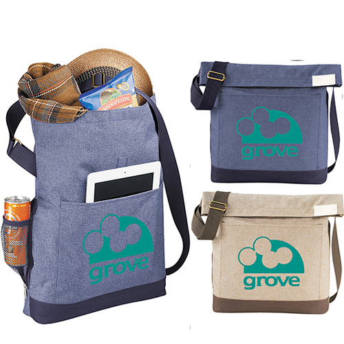 chambray foldover 11 tablet tote