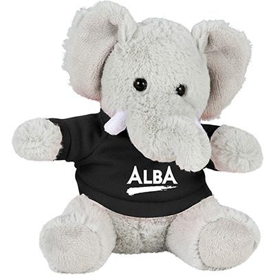 6 plush elephant with shirt