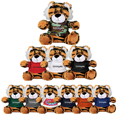 6 tiger plush animal with shirt