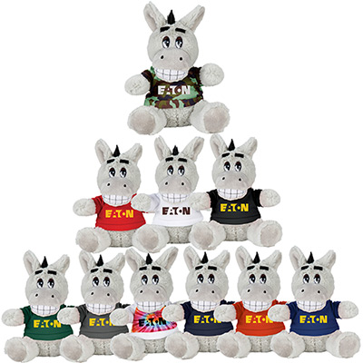 6 plush donkey with shirt