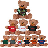 "25696 - 8"" Sitting Plush Bear with Shirt"