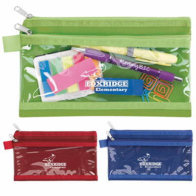 Double Pocket Pencil Pouch