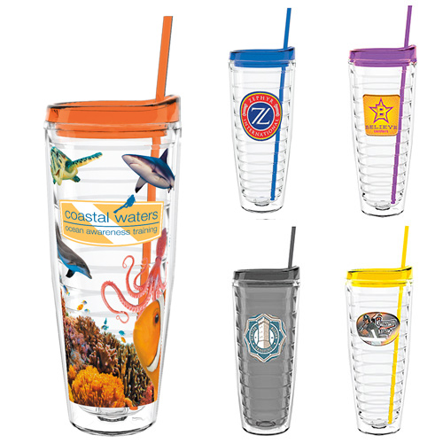 26 oz. Double Wall Ringed Tumbler