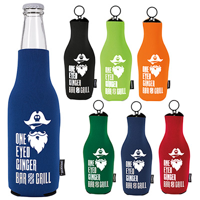 Koozie Neoprene Zip-Up Bottle Kooler