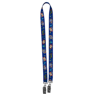 Dual Attachment Super Soft Polyester Lanyard