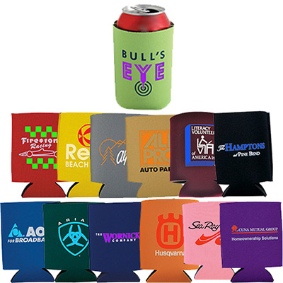 collapsible foam kan cooler- full color