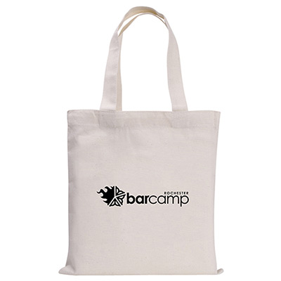natural mini economy tote bag