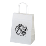 6151 - Mini White Paper Kraft Shopper Bag