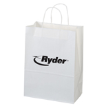 6152 - White Paper Shopper Bag-Jenny