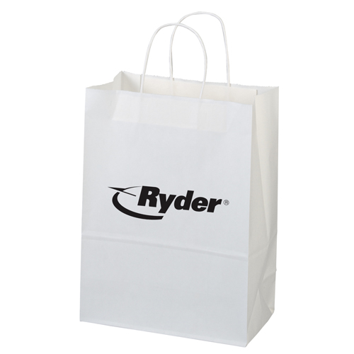 White Paper Shopper Bag-Jenny
