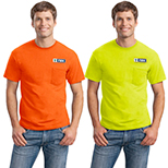 FBM23651 - Gildan® - Ultra Cotton® 100% Cotton T-Shirt with Pocket (Safety Green)