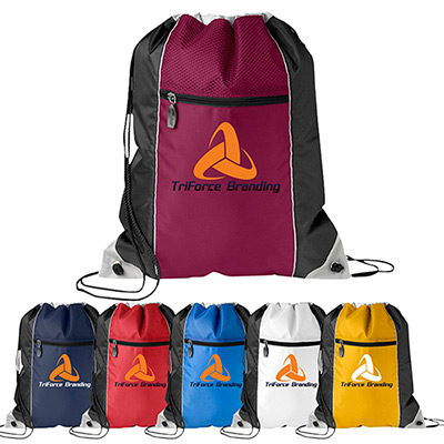 triad drawcord bag - full color