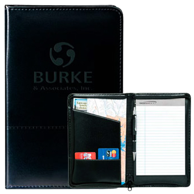 Script Zippered Jr. Padfolio