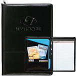 4499 - Zippered Script Padfolio