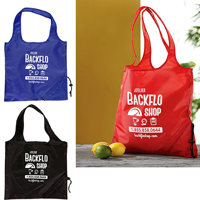 Custom Logoed Foldaway Tote Bag Promo Direct