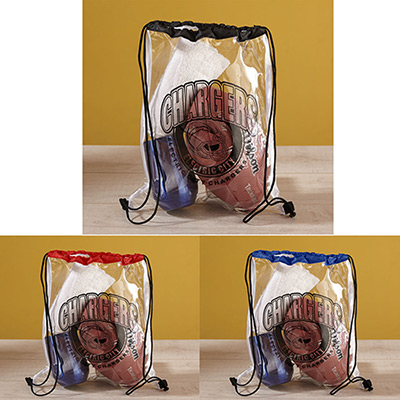 clear vinyl drawstring bag