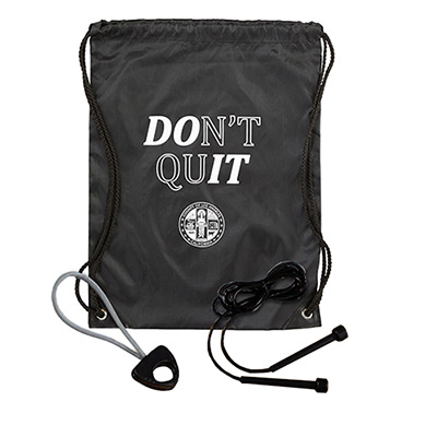 exercise kit drawstring backpack