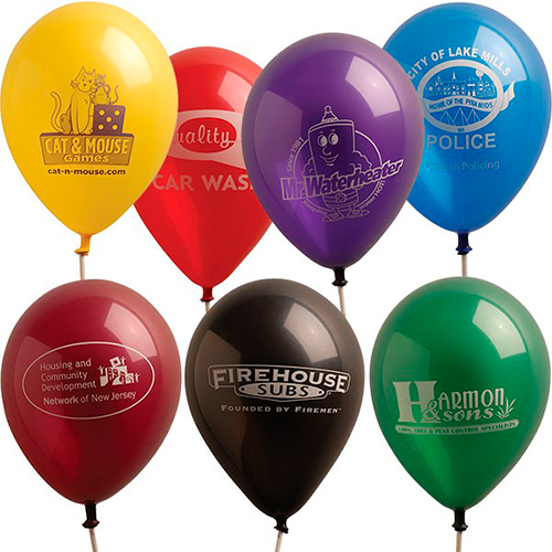 9 luminous balloons