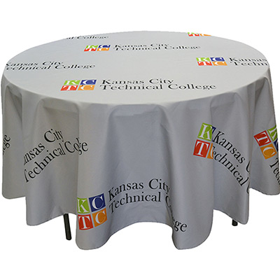 4 diameter round table cover - full color