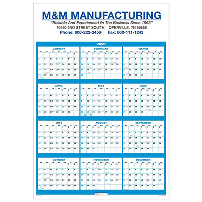 Single Sheet Wall Calendar