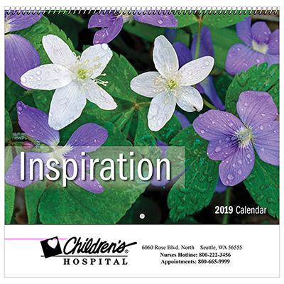 lnspiration wall calendar - spiral