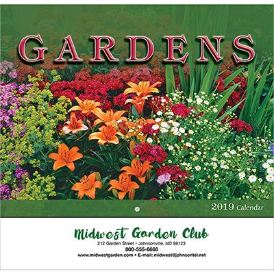 gardens wall calendar - stapled